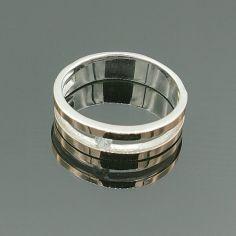 Акция на Серебряное кольцо с золотыми вставками Дуэт 19 р от Allo UA