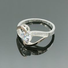 Акция на Серебряное кольцо с золотыми вставками Эталон 18 р от Allo UA