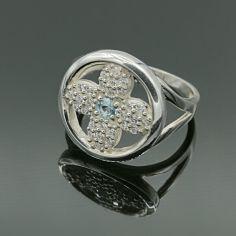 Акция на Серебряное кольцо с фианитами Космея 17 размер от Allo UA