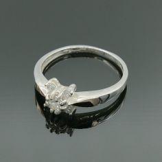 Акция на Серебряное кольцо с золотом арт 033 16 размер от Allo UA