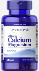 Акция на Puritan's Pride Calcium Magnesium Chelated 100 caps от Stylus