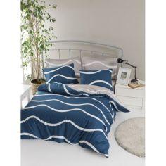 Акция на Постельное белье Lotus Home Perfect Ranforce - Nova голубой евро от Allo UA