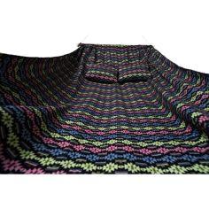 Акция на Гамак мексиканский тканевый подвесной Здоровенный Lucky Astra двухместный Big 300 kg с поперечной планкой 270 х 150 c чехлом и веревками Разноцветный от Allo UA
