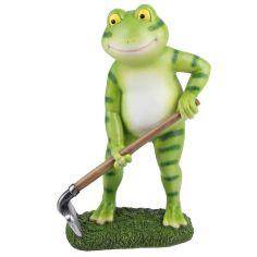 Акция на Фигурка садовая 35 см Лягушка-садовник Engard KG-31 зеленая от Podushka