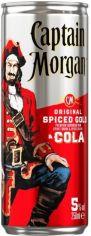Акция на Напиток алкогольный Captain Morgan Spiced Gold RUM-COLA ж/б 0.25л (PLK5000281054537) от Stylus