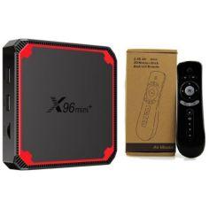 Акция на Медиаплеер X96 MINI + (X96 mini plus) 2гб 16Гб Amlogic S905W4 Андроид 9 Смарт ТВ Приставка + T2 Air Mouse Аэро пульт от Allo UA