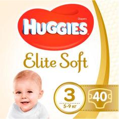 Акция на Подгузники HUGGIES Elite Soft 3 5-9 кг Jumbo 40 шт (5029053547770) от Foxtrot