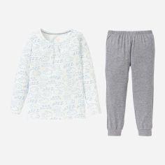 Акция на Пижама (футболка с длинными рукавами + штаны) Lupilu DIS12206 110-116 см Белый/Серый (Er_2000000311197) от Rozetka
