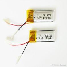 Акция на Аккумулятор 501225 Li-Pol для Bluetooth гарнитуры Серебристый 110mah 3.7V (1502214212) от Allo UA