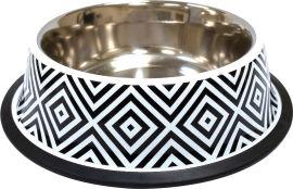 Акция на Миска металлическая для собак и кошек Croci Twiggy Diamond 19 см 470 мл (8023222228177) от Rozetka