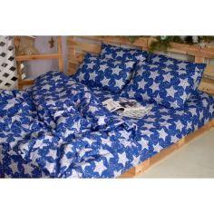 Акция на Комплект постельного белья Семейный Звёзды на синем Бязь от Bretanni 669-4 от Allo UA