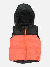 Акция на Демисезонный жилет Одягайко 72101 104 см Оранжевый с черный (ROZ6400044994) от Rozetka