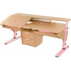 Акция на Детская парта PONDI Эргономик для 2 детей Бук-розовая от Allo UA