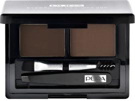 Акция на Набор косметики для бровей Pupa Eyebrow Set №03 Dark Brown 1.1 г (8011607220397) от Rozetka