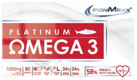Акция на Жирные кислоты IronMaxx Platinum Omega 3 60 капсул (4260196295727) от Rozetka