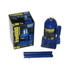 Акция на Домкрат гидравлический бутылочный 10т 185-350мм Iron Hand низкий (коробка) для авто Автомобильный от Allo UA