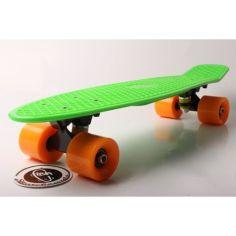 """Акция на Скейт Пенни борд Penny board Fish 22"""" оригинал ABEC - 11 супер быстрые колеса Салатовый от Allo UA"""