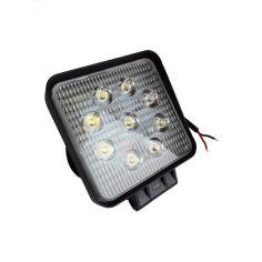 Акция на Светодиодная LED противотуманная фара ЛИДЕР 1 шт 10-30V 06-27W дальний 110x110x50 от Allo UA
