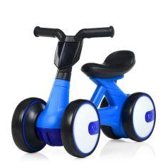 Акция на Беговел Толокар для малышей от 1.5 лет со светящейся фарой и музыкой, диаметр колес 17см, синий 56х29х39см от Allo UA