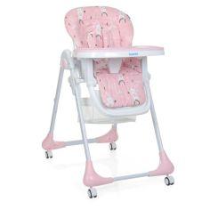 Акция на Детский регулируемый Стульчик для кормления Bambi Rabbit Girl Pink: съёмная столешница, колеса 60х88х109см от Allo UA