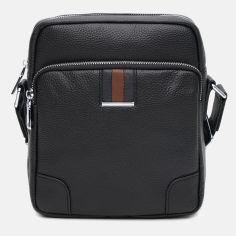 Акция на Мужская кожаная сумка Palmera K106615B Черная (ROZ6400178116) от Rozetka