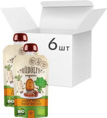 Акция на Упаковка органического овощного пюре Rudolfs с телятиной 110 г х 6 шт (14751017942151) от Rozetka