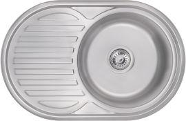 Акция на Кухонная мойка KRONER (KRP) Satin-7750 D0.8T180 от Rozetka