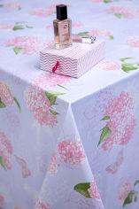 Акция на Скатерть УкрСкатерть Стандарт С растительным принтом 140х220 Светло-розовая (573811022) от Rozetka