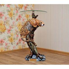 Акция на Стеклянный журнальный столик Эдем Ягуар стекло 25 см 1.54М от Allo UA