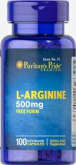 Акция на Аминокислота Puritan's Pride L-Arginine 500 mg 100 капсул (074312100918) от Rozetka