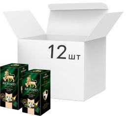 Акция на Упаковка чая зеленого байхового с араматом жасмина Richard Green Jasmine 12 шт по 25 пакетиков (4823063705134) от Rozetka