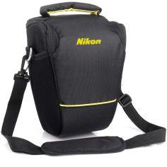 Акция на Сумка для фотоаппарата Nikon D, противоударный чехол Никон Черный/желтый ( код: IBF061BY ) от Allo UA