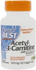 Акция на Аминокислота Doctor's Best Biosint Ацетил L-Карнитин 500 мг 60 гелевых капсул (753950001053) от Rozetka