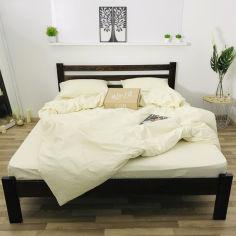 Акция на Комплект постельного белья Lelit Сатин светло-бежевый 150х215 (2000000004785) от Rozetka