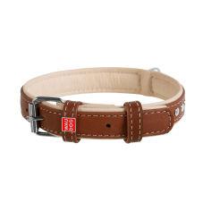 Акция на Ошейник для собак кожаный Collar WAUDOG Soft с QR паспортом, металлические украшения, XS, Ш 15 мм, Дл 27-36 см (7195) от Rozetka