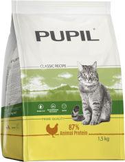 Акция на Полноценный сухой корм для взрослых кошек PUPIL Prime с курицей печенью и овощами 1.5 кг (5906731505225) от Rozetka