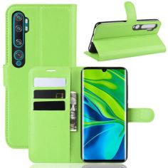 Акция на Чехол-книжка Litchie Wallet для Xiaomi Mi Note 10 / Mi Note 10 Pro / CC9 Pro Green от Allo UA