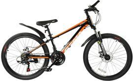 "Акция на Велосипед Royal Baby Fema MTB 1.0 24"" Official UA 2021 Черный (RB24-10-BLK) от Rozetka"