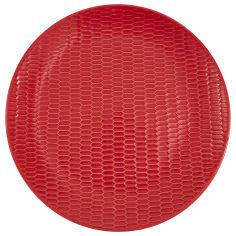Акция на Тарелка обеденная Actuel, керамическая, красная, 27,5 см от Auchan