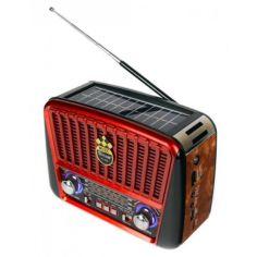 Акция на Радио портативная колонка MP3 USB Golon с солнечной панелью Golon RX-456S Solar Brown-Red от Allo UA