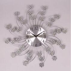 Акция на Часы металлические с стразами D-48 см. Flora 8742 от Allo UA