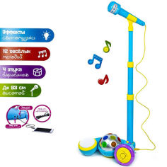 Акция на Микрофон на стойке, MP3, свет, музыка 2825 (6952002257286) от Allo UA