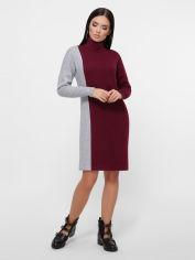 Платье Fashion Up Vitelia PL-1810B 48 Марсала с серым (FU2100000233953) от Rozetka