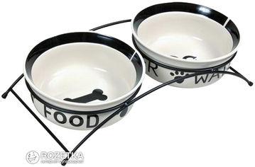 Подставка с мисками из керамики для собак Trixie Eat on Feet 650 мл (4011905246413) от Rozetka