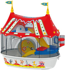 Клетка для хомяков Ferplast Circus Fun 49.5х34х42.5 см с цветными наклейками (57922799) от Rozetka