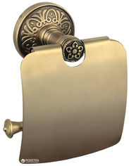 Держатель для туалетной бумаги AQUA RODOS Милано закрытый 9626 бронза от Rozetka