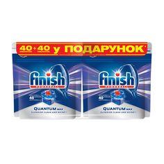 Таблетки для посудомоечных машин FINISH Quantum 40 шт + 40 шт (4820108001657) от Rozetka