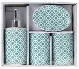 Набор аксессуаров для ванной Bathroom solutions Бирюзовый (554777020_turquoise) от Rozetka
