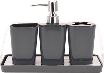 Набор аксессуаров BATHROOM SOLUTIONS Серый (314418640_gray) от Rozetka
