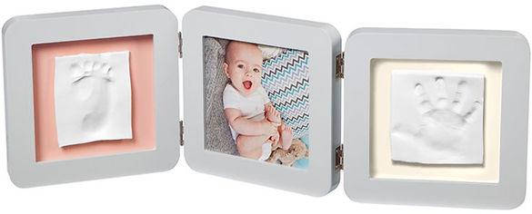 Набор для создания отпечатка ручки и ножки малыша Baby Art Тройная рамка Пастель (3601095300) (3220660304509) от Rozetka